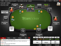 Screenshot of a Titan Poker Table